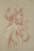 Study of boy at left for 'Children', 1947