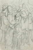 Study for 'John Ball and the Peasants' Rising of 1381', 1938