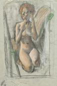 Study for 'The Model's Throne', 1940