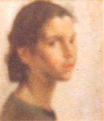 Head of a young woman, possibly 'Meg'