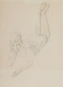 Study of Boy for The Family 1932