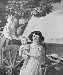 Children and Cart