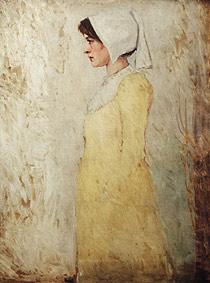 Breton Girl in Yellow Dress