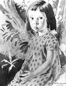 Girl in a Spotted Dress