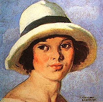 Girl in a White Hat